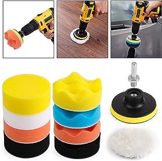Kshineni Car Foam Drill 3-Inch Buffing Pad، 11 PCs Polishing Pads Pad، Kit Buffer Polisher Kit Drill Buffing Kit for Polish Car، Waxing، Sealing Glaze