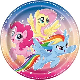 Unique Industries My Little Pony Paper Party Plates, 8ct