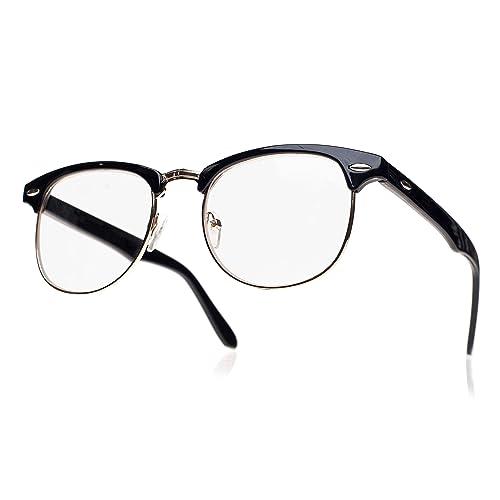 b23e60ec4bc Men s Women s Original Retro glasses CLEAR LENS Unisex Vintage Cat Eye  style Party
