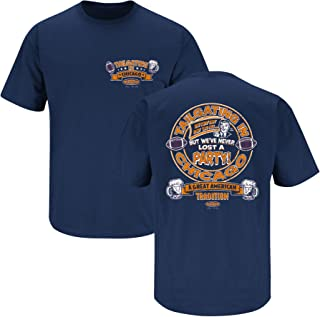 Smack Apparel Chicago Football Fans. Tailgating in Chicago Navy T-Shirt (Sm-5X)
