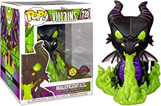 POP Villains - Maleficent as The Dragon (Metallic and Glow in The Dark) Vinyl Figure 720 Special Edition Exclusive