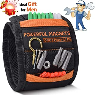 Magnetic Wristband,Gifts for Men,Magnetic Wristband for Holding Screws,Nails,Drill Bits with Strong Magnets,Magnetic Tool Wristband,Gadgets for Men, DIY Handyman, Father/Dad, Husband, Boyfriend, Women