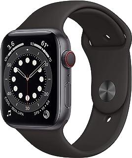Nyhet AppleWatch Series6 (GPS+Cellular) • 44mm aluminiumboett rymdgrå • sportband svart