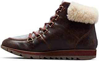 Sorel - Women's Harlow Lace Cozy Winter Boot with Shearling Collar, Ash Brown