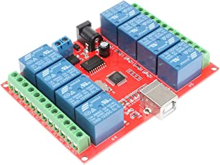 ARCELI 8-Channel 12V Computer USB Control Switch Relay Module Drive-Free Relay Module Plug and Play Suitable for PC Smart Controller