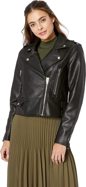 [BLANKNYC] Blank NYC Womens Vegan Leather Moto Jacket in It Takes Two