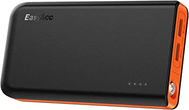 Easyacc 13000 Portable Charger 13000mAh Power Bank 4.8A Dual USB Output External Battery Pack 2-Port Input Fast Recharge Phone Charger for Andriod, iPhone X 8 7, Galaxy S8 S7 Smartphones and More