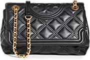 Tory Burch Women's Fleming Soft Convertible Shoulder Bag, Black, One Size