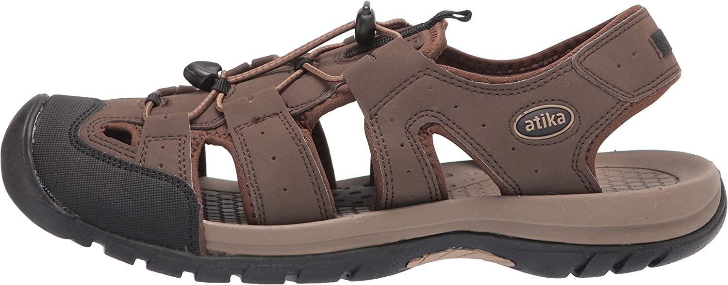 Closed Toe Athletic Sport Sandals ATIKA Mens Outdoor Hiking Sandals Lightweight Trail Walking Sandals Summer Water Shoes