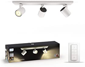 Philips Hue White Ambiance Runner 5.5 W GU10 Triple Spot Bar Ceiling Light Kit, 3 x 5.5 W Hue White Ambiance Perfect Fit G...