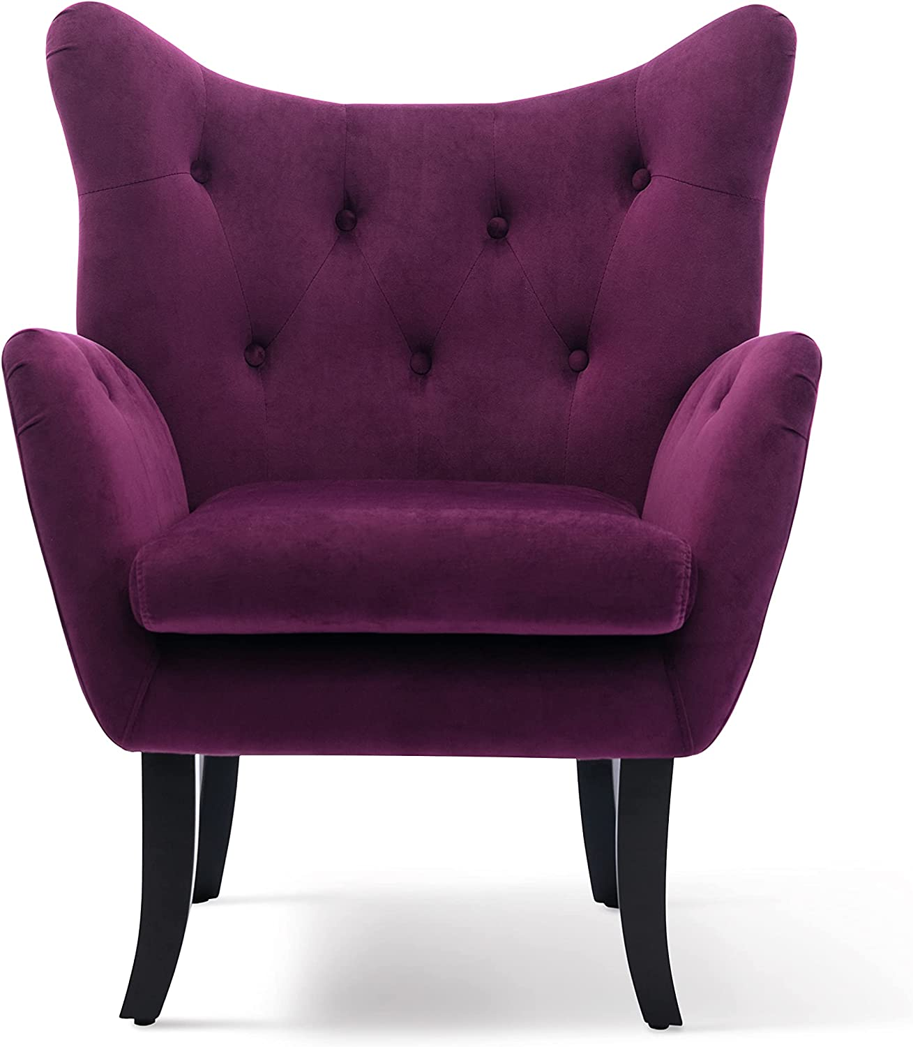 HomVent Modern Velvet Accent Upholstered Armchair Button Topics on TV Outlet sale feature Chair