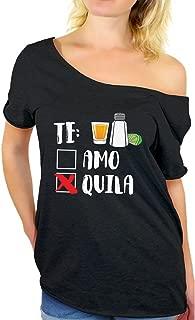 Te Amo Te Quila Off Shoulder Shirt Cinco de Mayo Gifts for Women