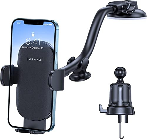 lowest Miracase Phone Holder for Car, 3-in-1 discount Universal Car Phone Mount Dashboard Windshield Air Vent, Flexible Gooseneck Long Arm, Strong Suction Stabilizer Compatible with lowest iPhone, Samsung and More online