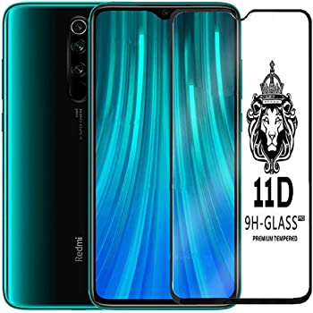 BEHAV 11D Tempered Glass Screen Protector Full HD Quality Edge to Edge Coverage for Xiaomi Redmi Note 8 Pro Black