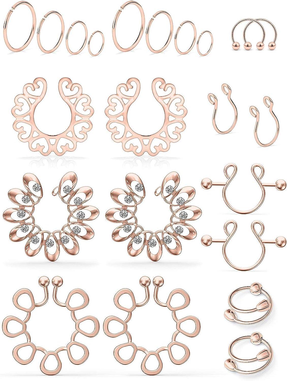 famous SCERRING Fake Nipple Ring Finally popular brand Ri Non-Piercing Stainless Steel