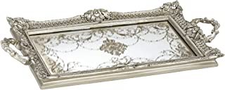 Kensington Hill Margeaux Antique Nickel and Mirrored Decorative Tray