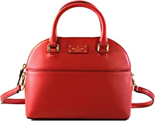 Kate Spade Mini Carli Grove Street Leather Women's Crossbody Bag Purse Handbag, Red Carpet