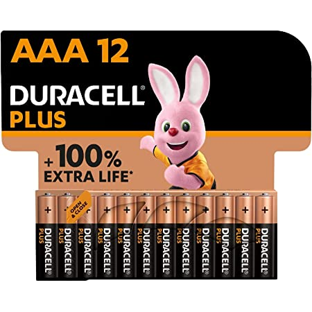 Duracell NEW Plus AAA Alkaline Batteries [Pack of 12], 1.5V LR03 MN2400