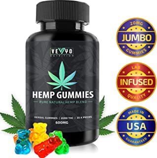 Hemp Gummies by VEYO Nutrition - 30 Count / 600 MG