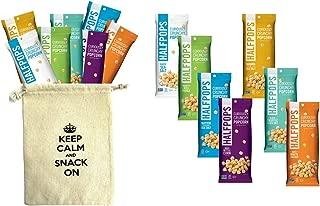 Halfpops Gluten Free Non-GMO Curiously Crunchy Popcorn 1.4oz 7 Flavor Variety Each 2 (Pack of 14)