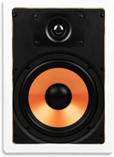 "Micca M-8S 8 Inch 2-Way in-Wall Speaker with Pivoting 1"" Silk Dome Tweeter (Each, White)"