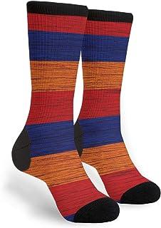 Women Men France American USA Flag Pride Cushion Crew Socks