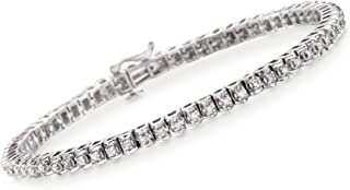 1.00-1.15 ct. t.w. Diamond Tennis Bracelet in Sterling Silver