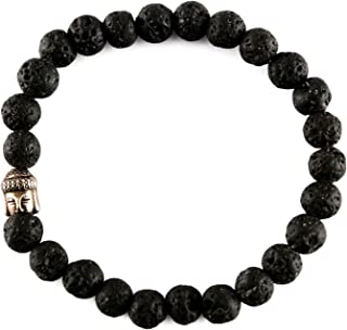 Spiritual Elementz Reiki Charged Gift Gemstone (7-8 mm) Created-Lava Gemstone Chakra Stretch Bracelet (21-24 Beads) Unisex...