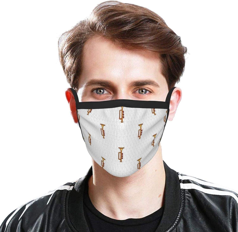 LANJYF 2 Packs Dust Mouth Wear, Trumpets Unisex Face Cloth