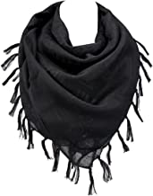 100% Cotton Military Shemagh Arab Tactical Desert Keffiyeh Thickened Scarf Wrap for Women and Men 43