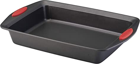 Rachael Ray Yum-o! Nonstick Baking Pan With Grips/ Nonstick Cake Pan with Grips, Rectangle - 9 Inch x 13 Inch, Gray with R...