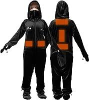Bauhutte (バウヒュッテ) ゲーミング着る毛布 ダメ着4GW デュアルUSB電熱ヒーター内蔵 HFD-4GW-M-BK ブラック mサイズ