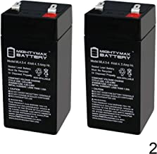 Mighty Max Battery 4 Volt 4.5 Ah Sealed Lead Acid Battery for Fi-Shock ESP2M - 2 Pack Brand Product