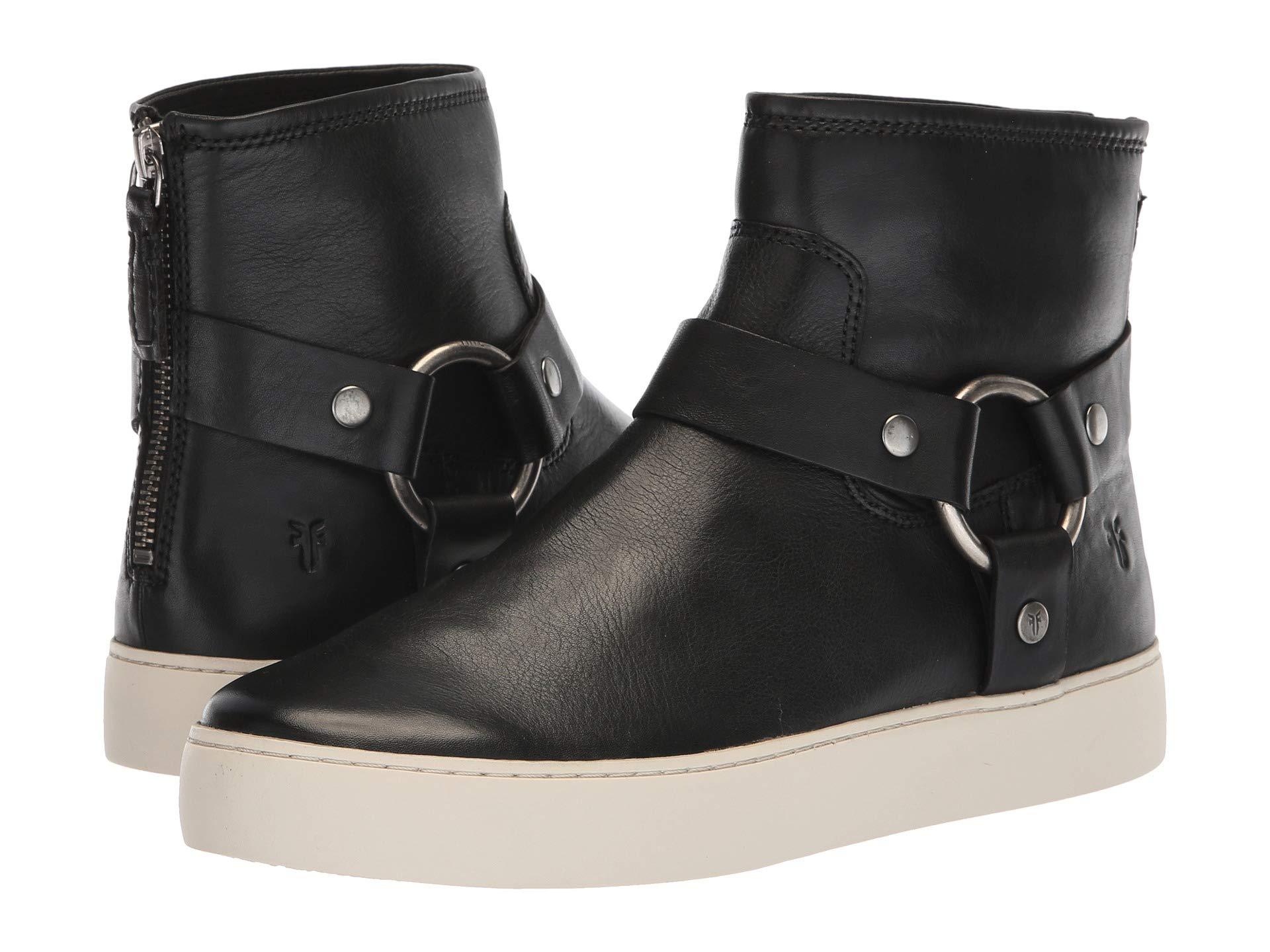 Harness Frye Lena Bootie Full Soft Polished Black Grain RRwqB