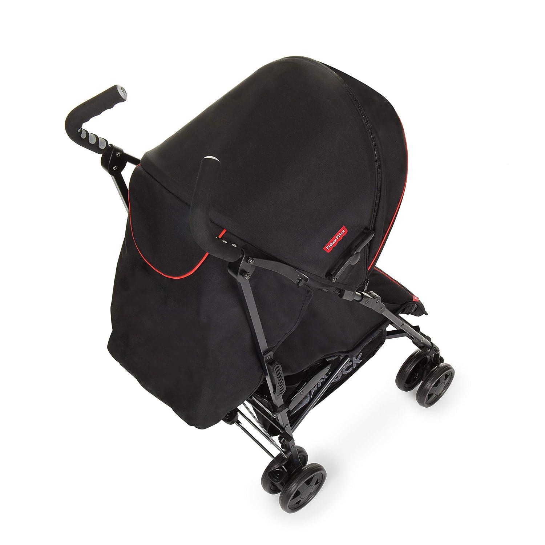 Hauck/Fisher Price Go-Guardian Palma Stroller/Small Folding Size/Ergonomic Handles/Practical Sun Canopy, Gumball Black