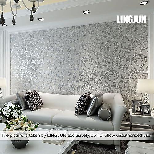 Silver Bedroom Wallpaper Amazon Co Uk
