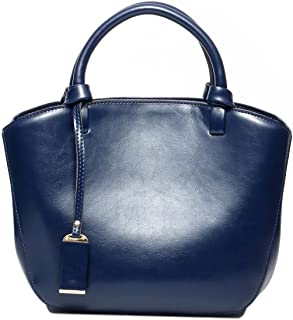 Sponsored Ad - Covelin Genuine Leather Handbag Womens Retro Middle Size Tote Shoulder Bag