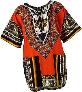 Sharplace Damen Kurzarm Sommer Traditionelle Afrikanische Kleider Afrika Style Minikleid Dashiki Cocktailkleid