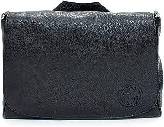 Soho Black Diaper Bag Leather Italy Messenger New