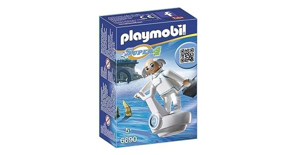 X toy figure building kit new Playmobil Super 4 6690 Technopolis Dr