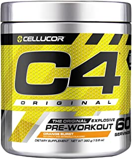 C4 Original Pre Workout Powder Orange Burst | Sugar Free Preworkout Energy Supplement for Men & Women | 150mg Caffeine + B...