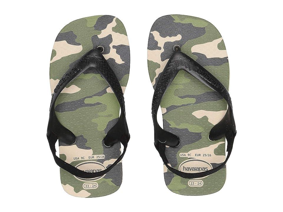 Havaianas Kids Baby Chic Flip-Flop (Toddler) (Beige/Black) Boys Shoes