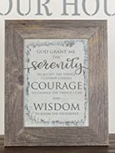God Grant Me The Serenity Prayer Grey Rustic White Religious Framed Art Decor 13x16