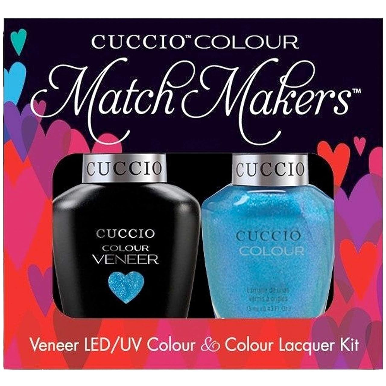 反発するレンダリング涙Cuccio MatchMakers Veneer & Lacquer - Roller Skate! - 0.43oz / 13ml Each
