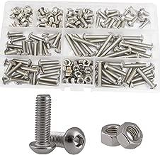 Button Head Socket Cap Bolts Screw Nut Metric Allen Hex Drive Assortment Kit 150Pcs,304Stainless Steel M5