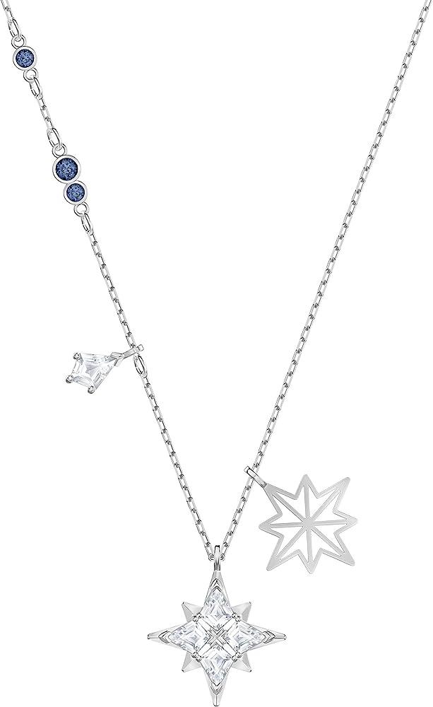 Swarovski collana da donna in lega di metalli placcata rodio e swarovski zirconia white 5511404