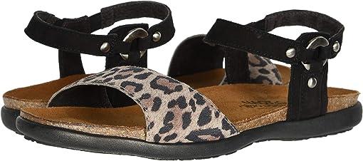 Cheetah Suede/Black Velvet Nubuck