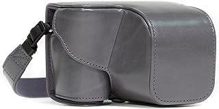 MegaGear MG677 Sony Alpha A6300 A6000 (16-50 mm) Estuche Ever Ready Funda de cuero de pronto uso con correa - Gris