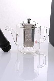 Royalford 960 ml Glass Tea Pot Stainless Steel Strainer, Multi-Colour, RF8262