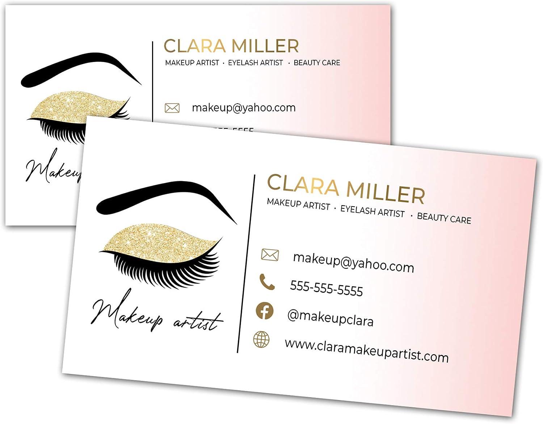100 business cards eyelash makeup gold artist Max 78% OFF shadow eye shopping design